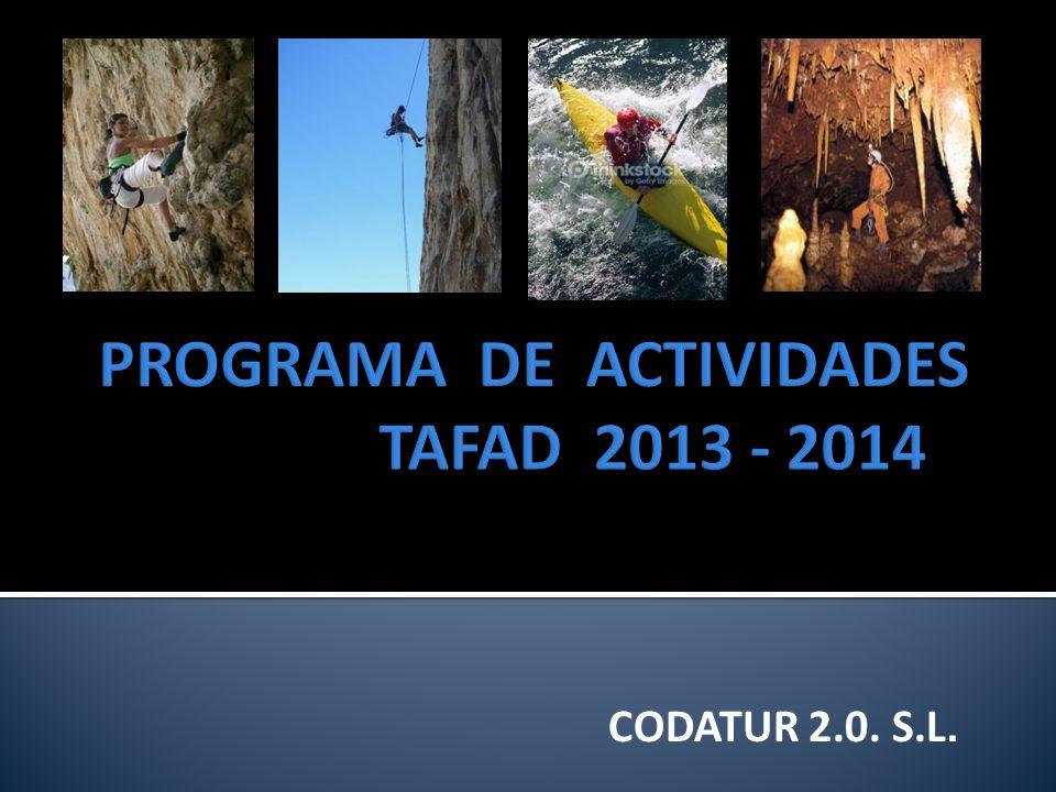PROGRAMA DE ACTIVIDADES TAFAD 2013 - 2014