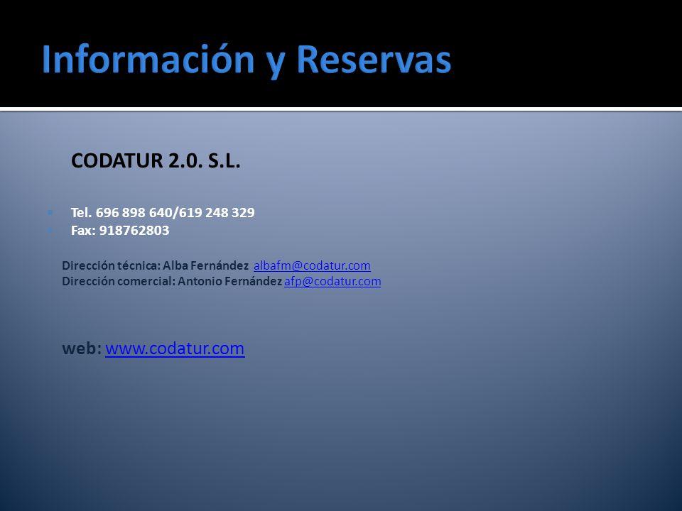 Información y Reservas