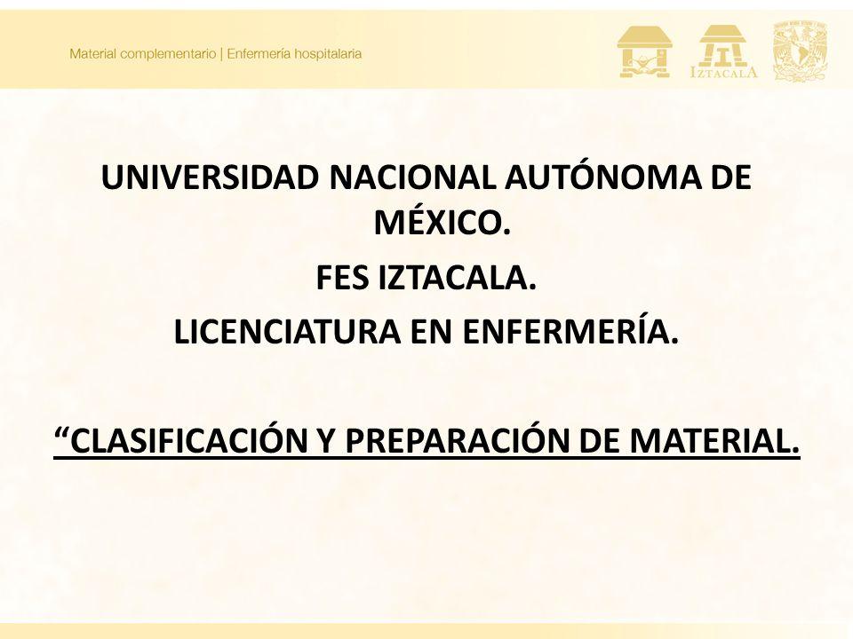UNIVERSIDAD NACIONAL AUTÓNOMA DE MÉXICO. FES IZTACALA.
