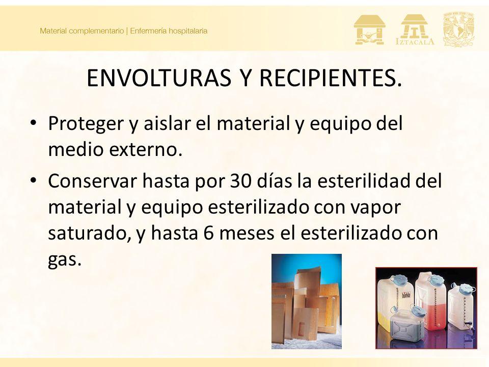 ENVOLTURAS Y RECIPIENTES.