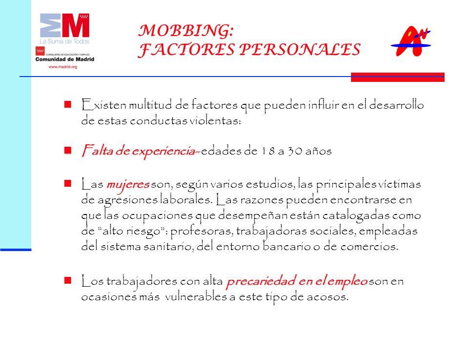 MOBBING: FACTORES PERSONALES