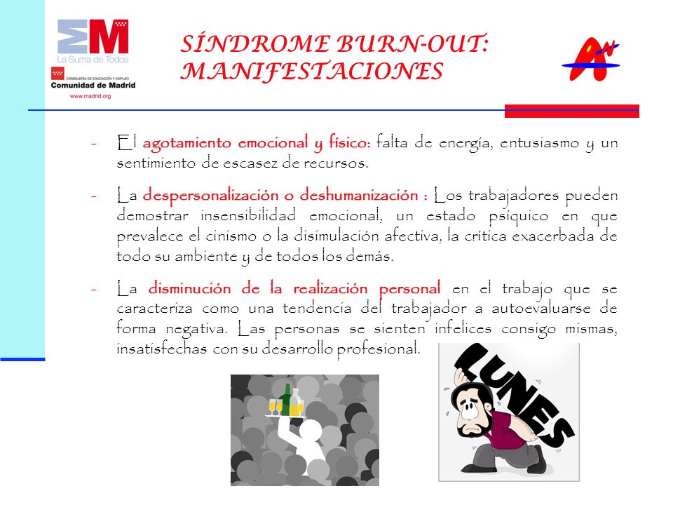 SÍNDROME BURN-OUT: MANIFESTACIONES