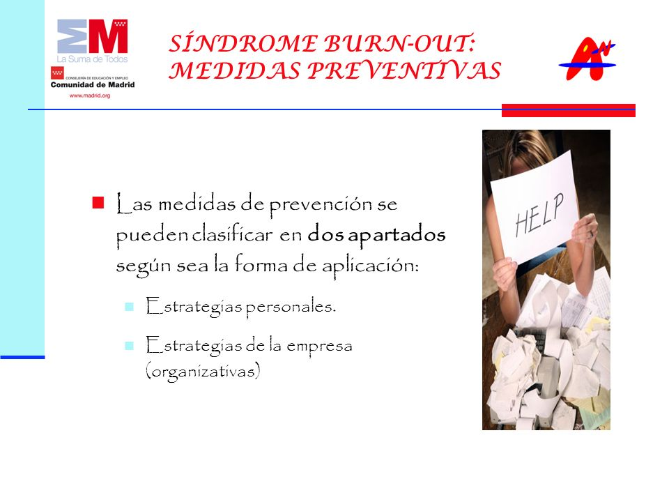 SÍNDROME BURN-OUT: MEDIDAS PREVENTIVAS
