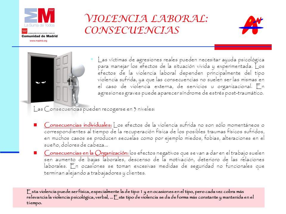 VIOLENCIA LABORAL: CONSECUENCIAS