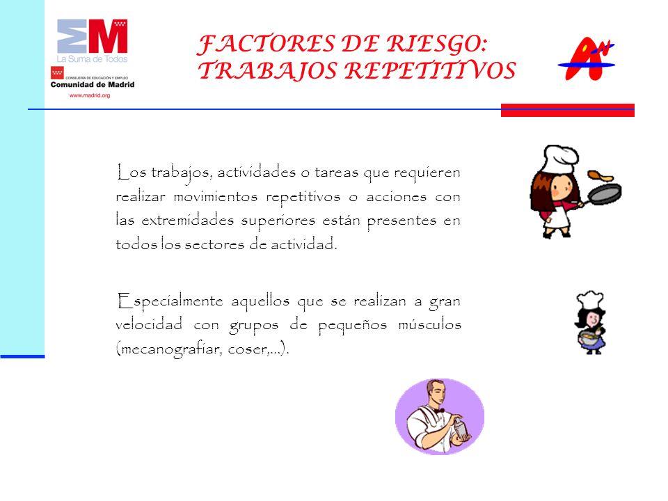 FACTORES DE RIESGO: TRABAJOS REPETITIVOS