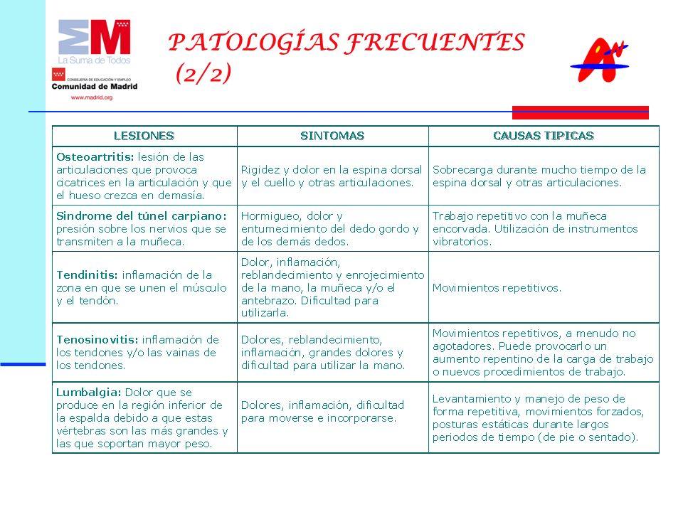 PATOLOGÍAS FRECUENTES (2/2)