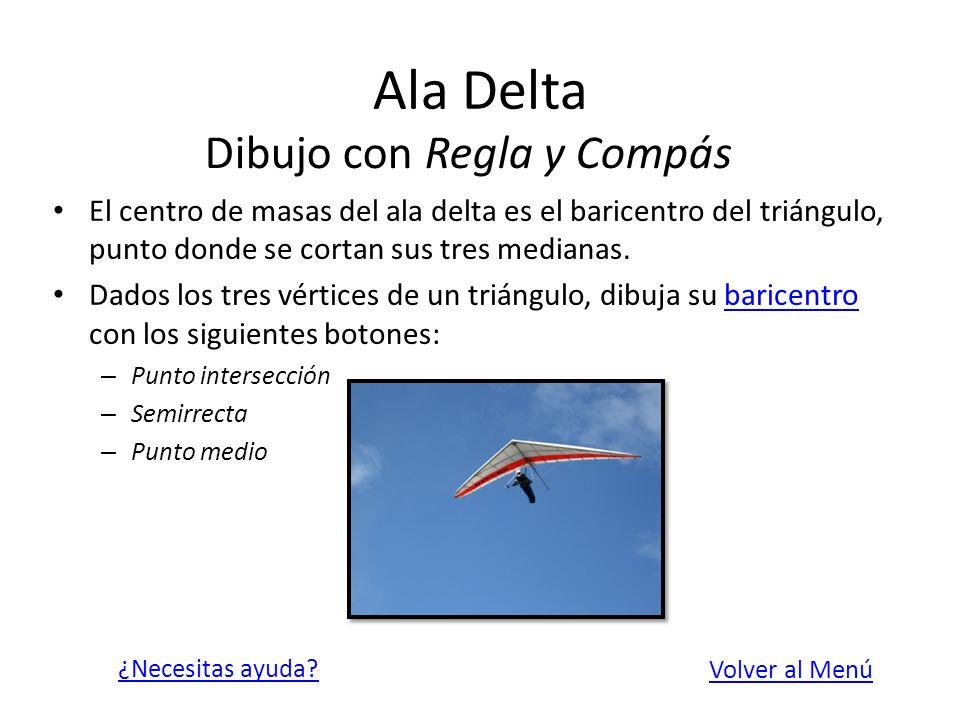 Ala Delta Dibujo con Regla y Compás