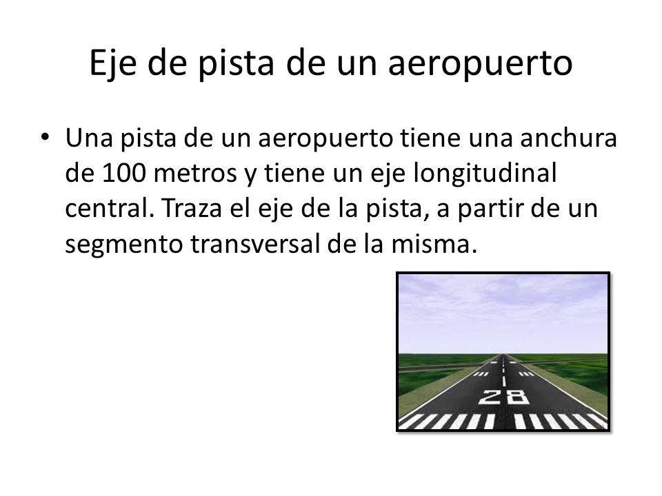 Eje de pista de un aeropuerto