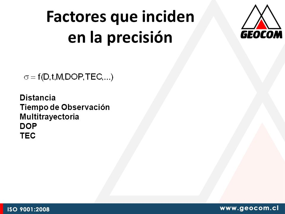 Factores que inciden en la precisión