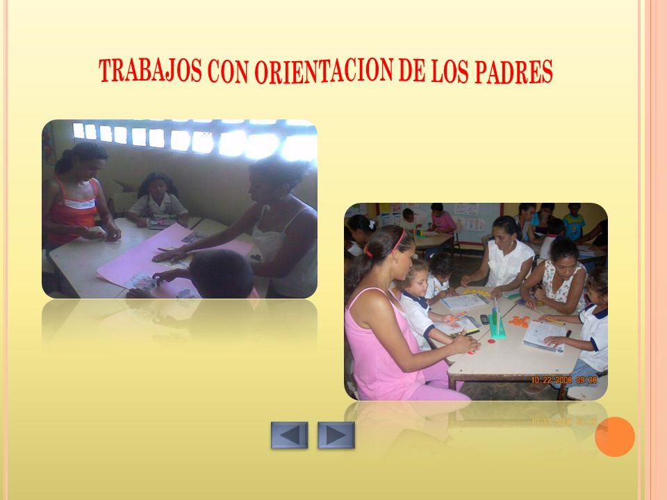 TRABAJOS CON ORIENTACION DE LOS PADRES