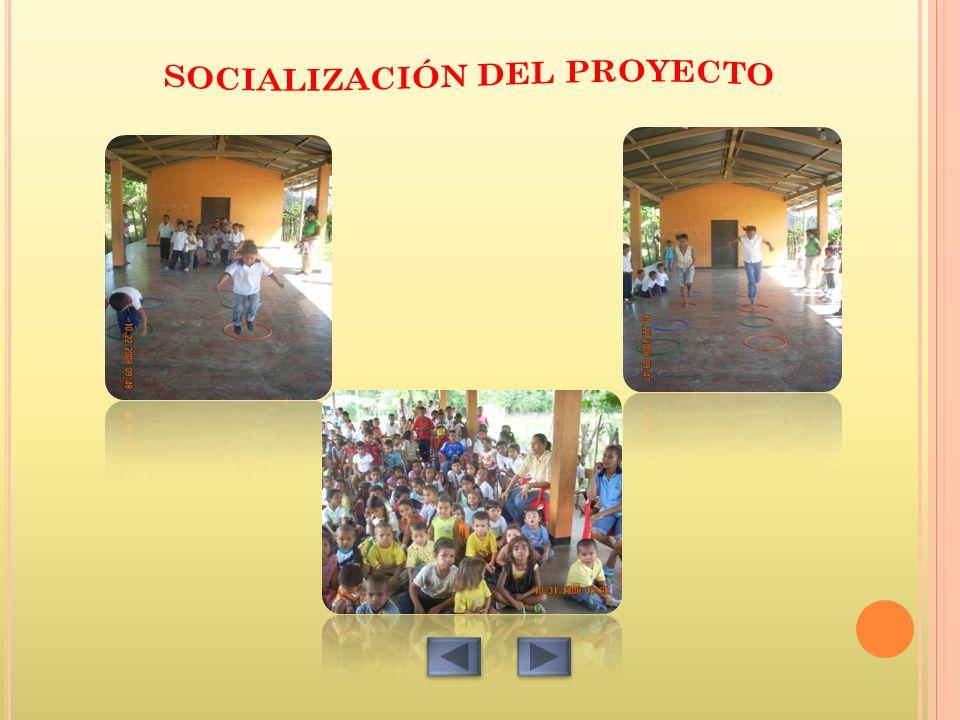 SOCIALIZACIÓN DEL PROYECTO
