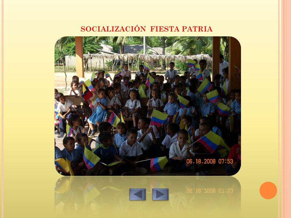 SOCIALIZACIÓN FIESTA PATRIA
