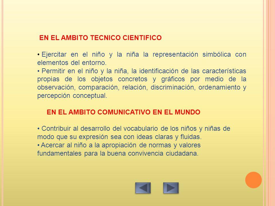 EN EL AMBITO TECNICO CIENTIFICO