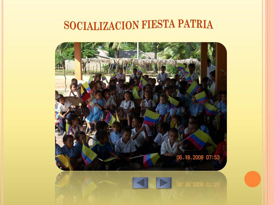 SOCIALIZACION FIESTA PATRIA