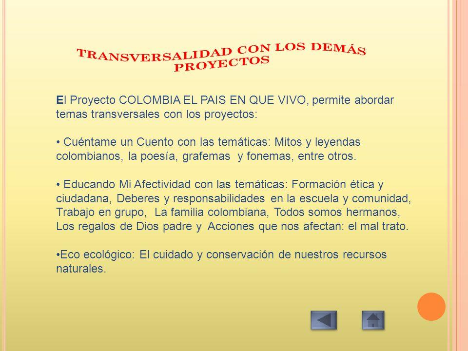 TRANSVERSALIDAD CON LOS DEMÁS PROYECTOS