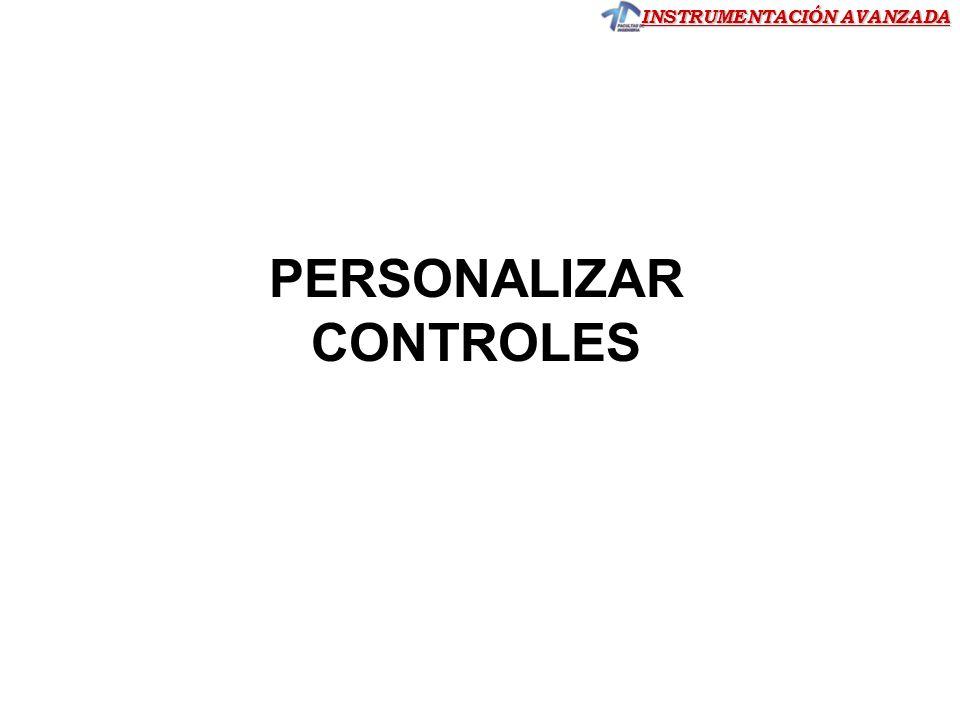 PERSONALIZAR CONTROLES