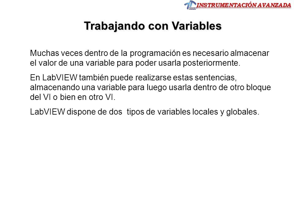Trabajando con Variables