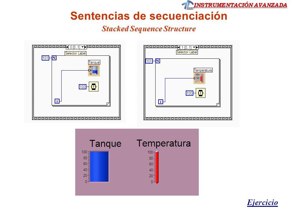 Sentencias de secuenciación