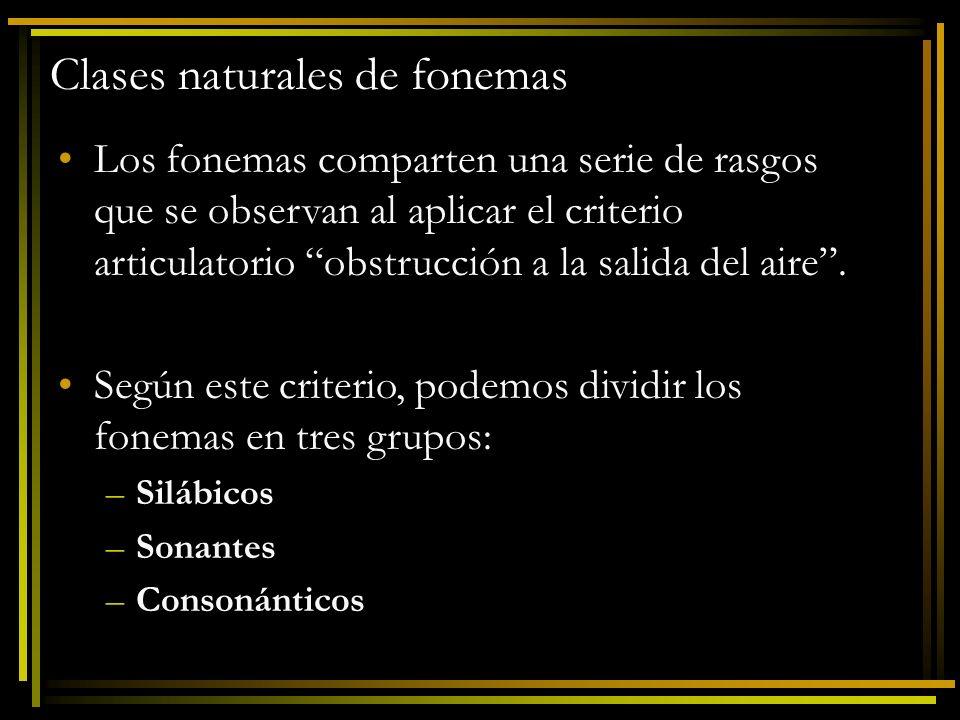 Clases naturales de fonemas
