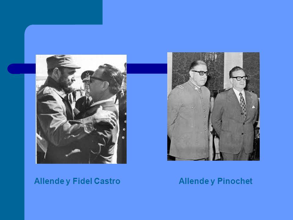 Allende y Fidel Castro Allende y Pinochet