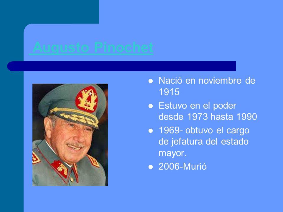 Augusto Pinochet Nació en noviembre de 1915