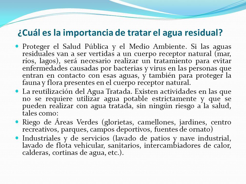 ¿Cuál es la importancia de tratar el agua residual
