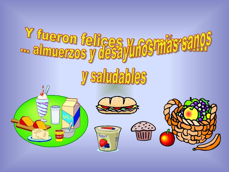 ... almuerzos y desayunos más sanos y saludables
