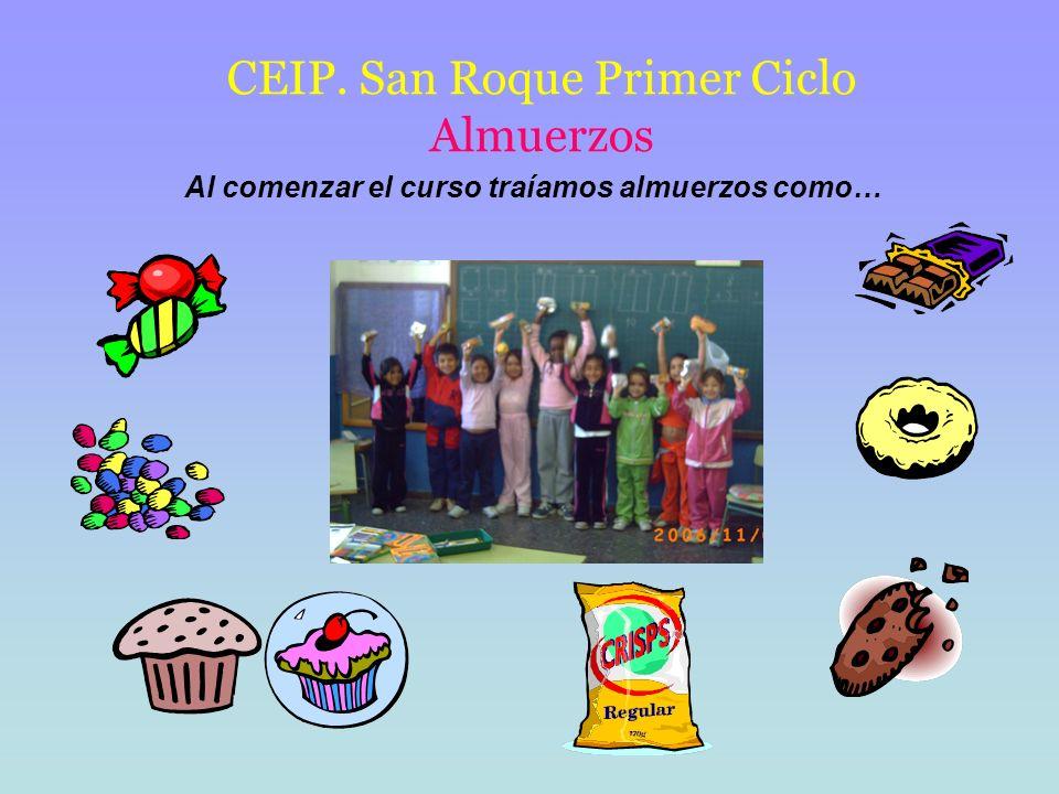 CEIP. San Roque Primer Ciclo Almuerzos
