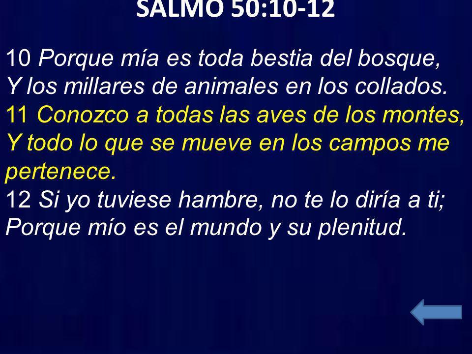 SALMO 50:10-12