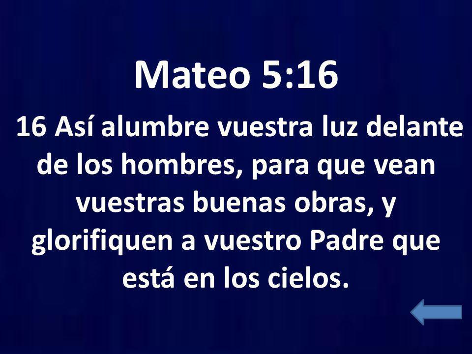 Mateo 5:16