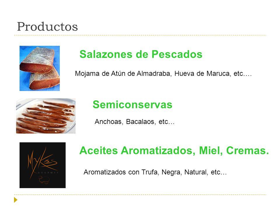 Productos Salazones de Pescados Semiconservas