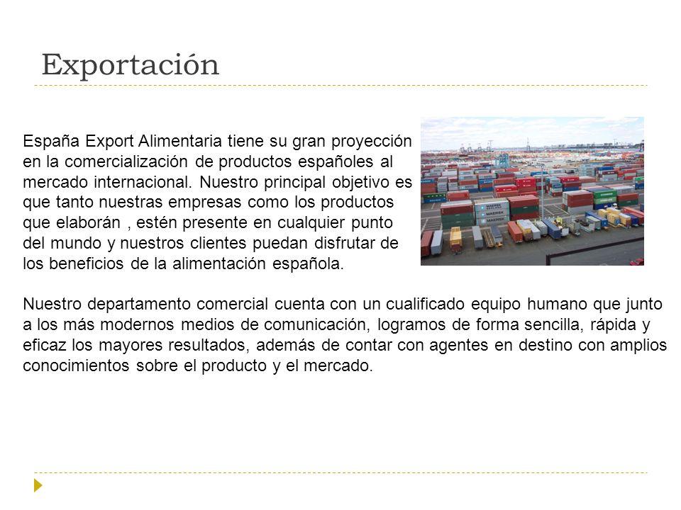 Exportación España Export Alimentaria tiene su gran proyección
