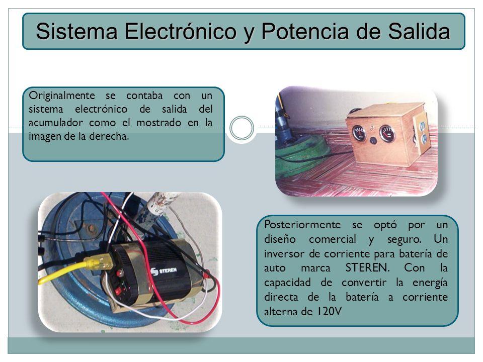 Sistema Electrónico y Potencia de Salida
