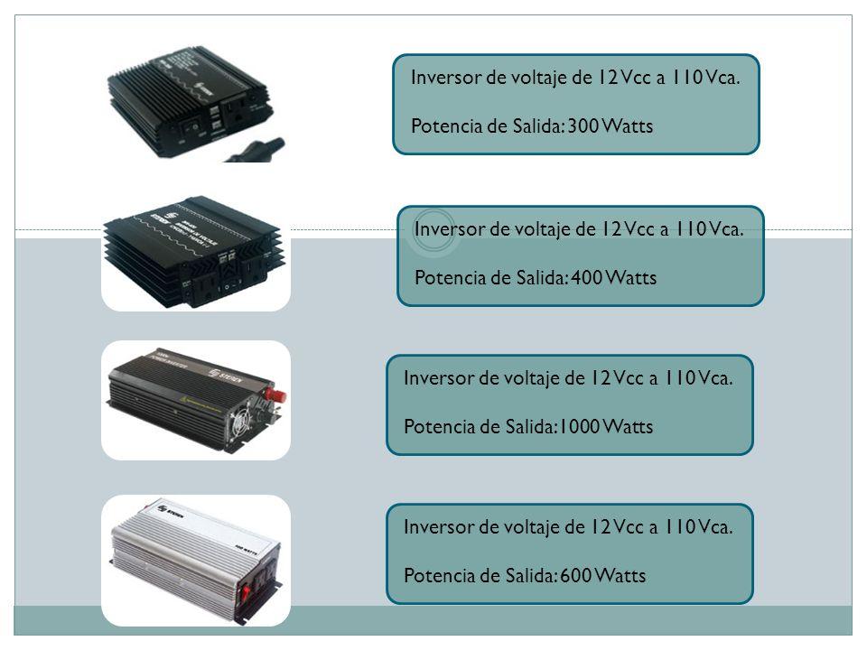 Inversor de voltaje de 12 Vcc a 110 Vca.