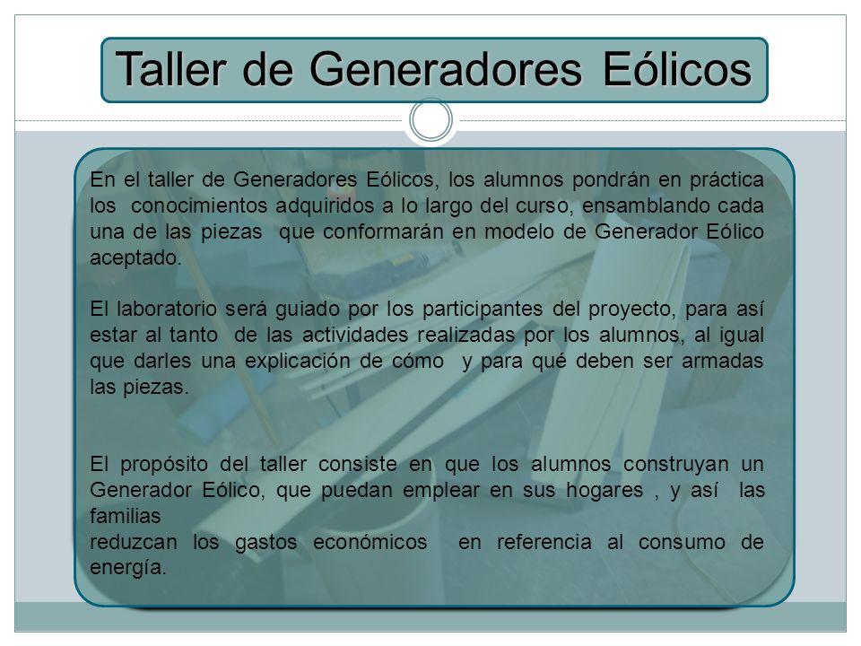 Taller de Generadores Eólicos