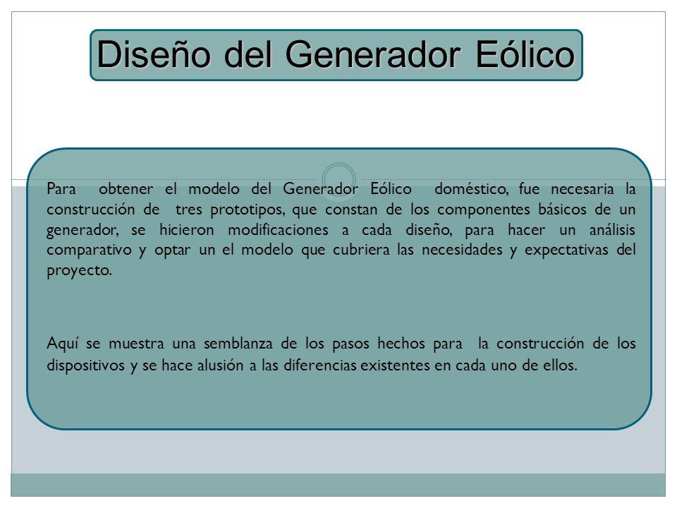 Diseño del Generador Eólico