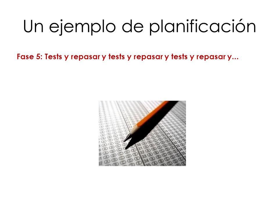 Un ejemplo de planificación