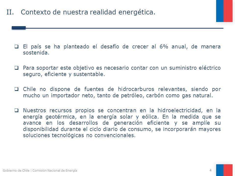II. Contexto de nuestra realidad energética.
