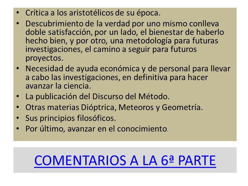 COMENTARIOS A LA 6ª PARTE