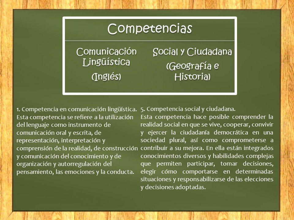 1. Competencia en comunicación lingüística.