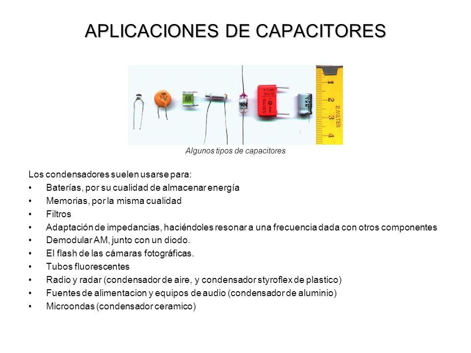 APLICACIONES DE CAPACITORES
