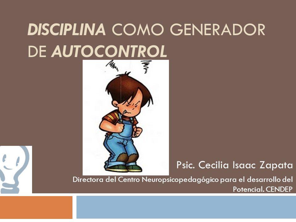 Disciplina como generador de Autocontrol