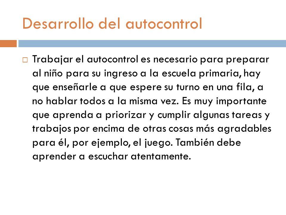 Desarrollo del autocontrol