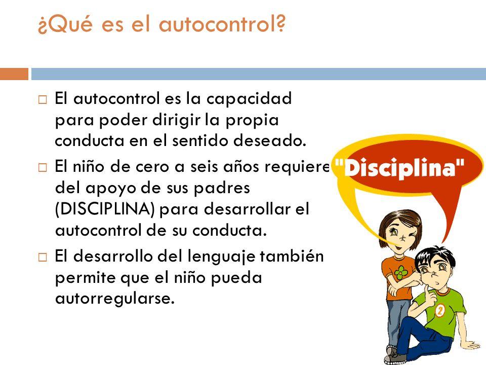 ¿Qué es el autocontrol El autocontrol es la capacidad para poder dirigir la propia conducta en el sentido deseado.