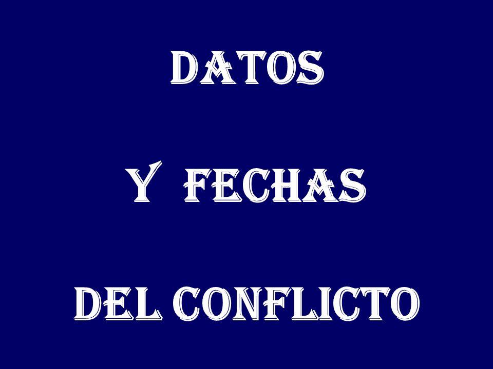 Datos y fechas del conflicto
