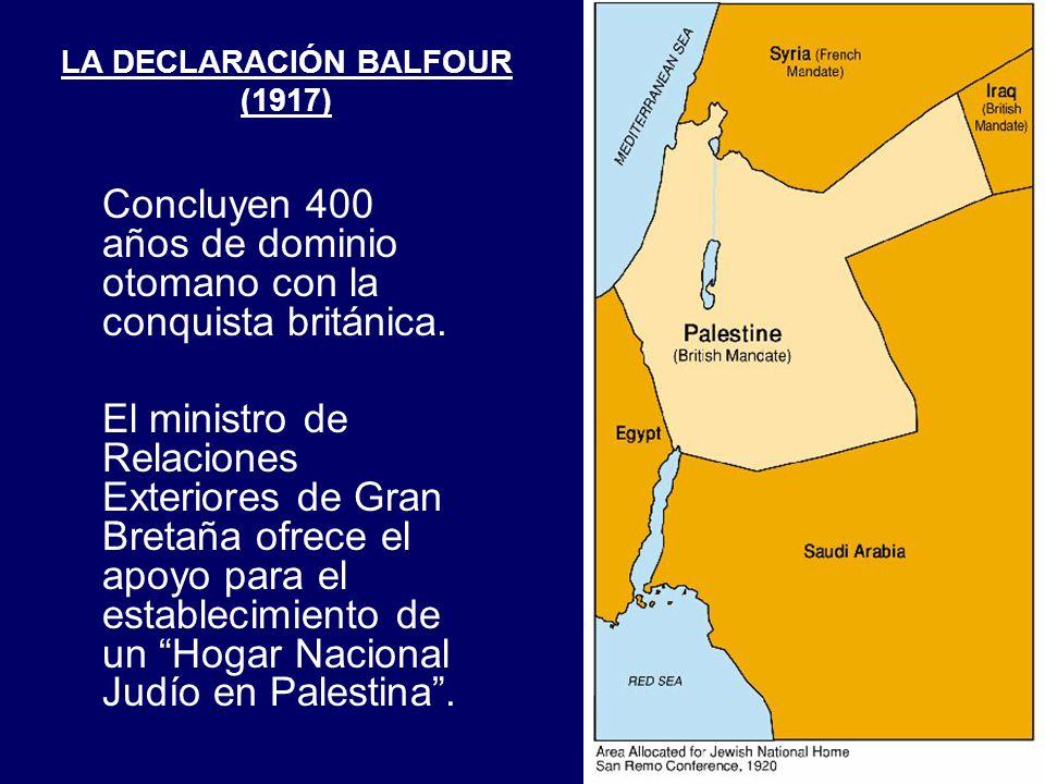 LA DECLARACIÓN BALFOUR (1917)