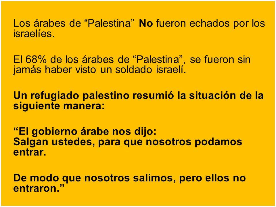 Un refugiado palestino resumió la situación de la siguiente manera: