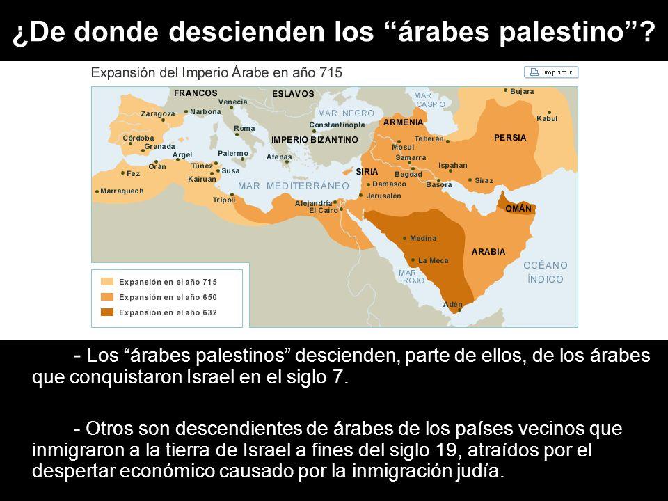 ¿De donde descienden los árabes palestino