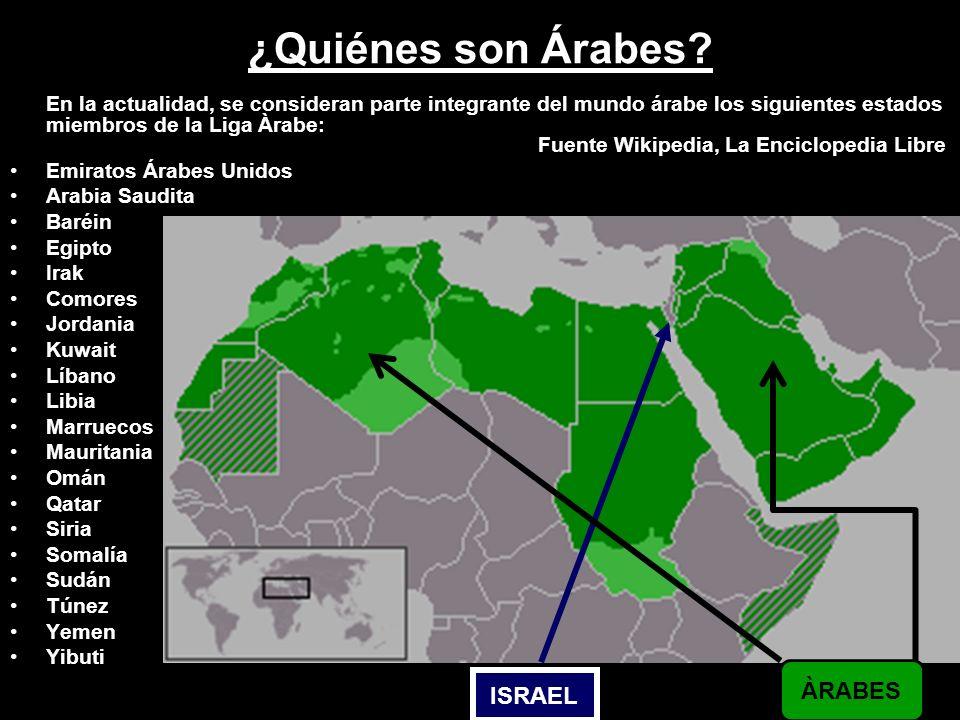 ¿Quiénes son Árabes ÀRABES ISRAEL