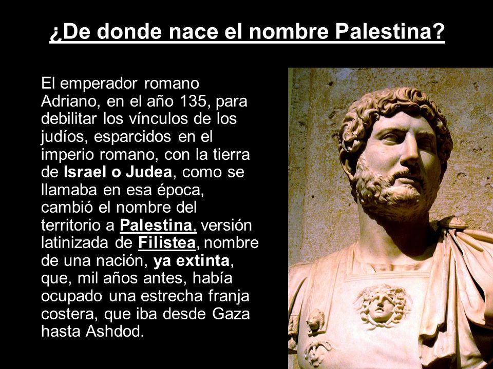 ¿De donde nace el nombre Palestina
